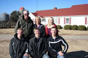 The Peterson Family on our family farm!